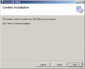 Access SQL Editor Install Screen 4