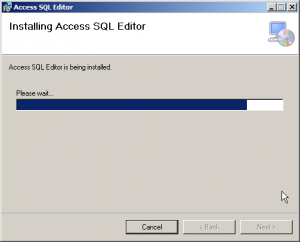 Access SQL Editor Install Screen 5