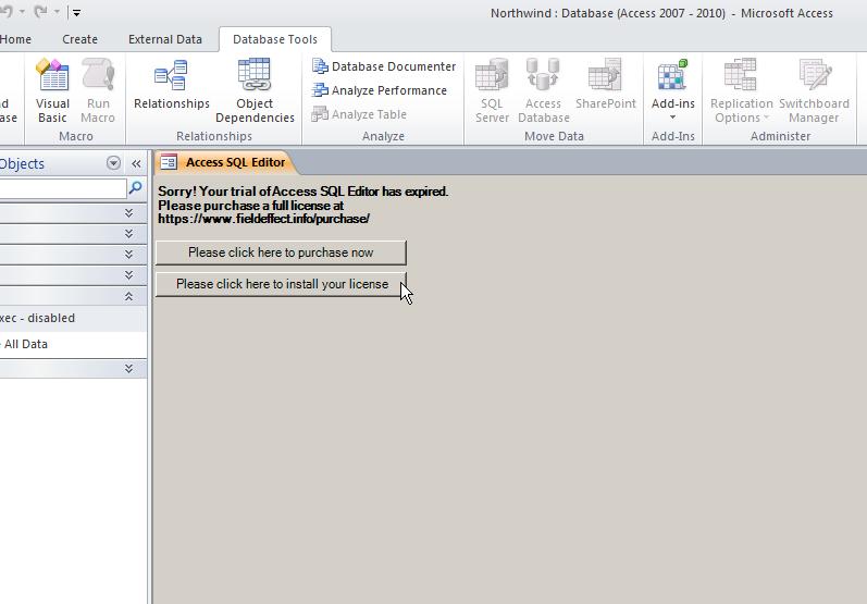 Access SQL Editor – Field Effect, LLC